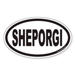SHEPORGI Euro Oval Sticker