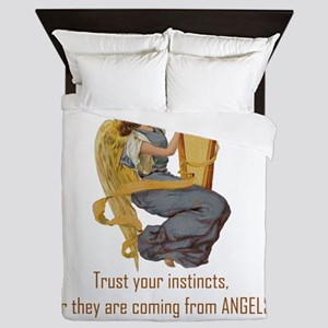Angels Whispering Queen Duvet