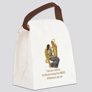 Angels Whispering Canvas Lunch Bag