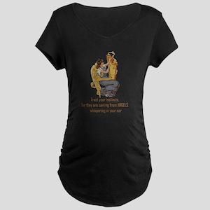 Angels Whispering Maternity T-Shirt