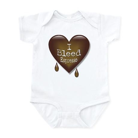 I Bleed Espresso Heart Infant Bodysuit