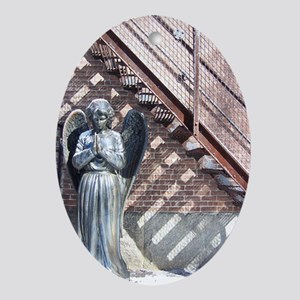 Angel of Hope --  Oval Ornament
