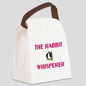 The Rabbit Whisperer Canvas Lunch Bag