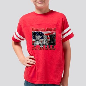 americanpitbull2 Youth Football Shirt
