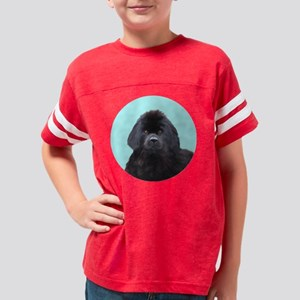 Newfoundland Dog Head Shoulde Youth Football Shirt
