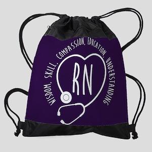 RN Wisdom Skill Compassion Drawstring Bag