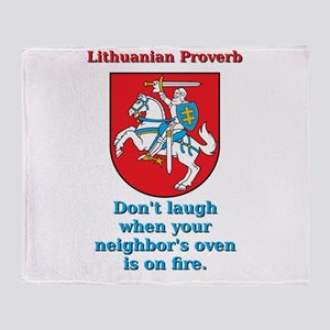 Don't Laugh - Lithuanian Proverb Throw Blanket