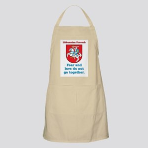Fear And Love - Lithuanian Proverb Light Apron