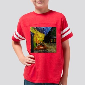 Van Gogh Cafe Terrace At Nigh Youth Football Shirt