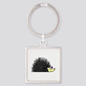 Cute Happy Hedgehog Keychains