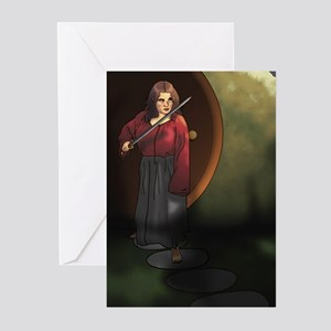 Hobbit_Girl_Commission_by_jennyelf02 Greeting Card