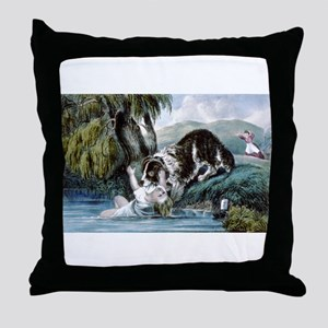 A friend in need - 1856 Throw Pillow