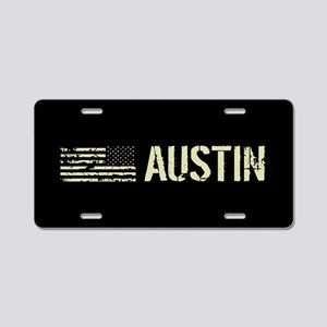 Black Flag: Austin Aluminum License Plate