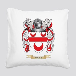 Ogle Coat of Arms (Family Crest) Square Canvas Pil
