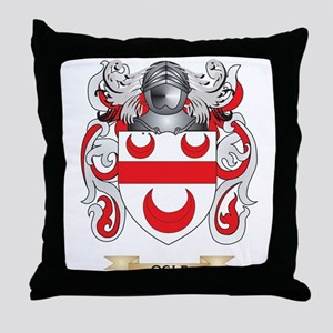 Ogle Coat of Arms (Family Crest) Throw Pillow
