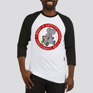 Hippopotamus For Christmas Baseball Jersey