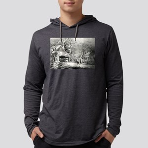 A snowy morning - 1864 Mens Hooded Shirt