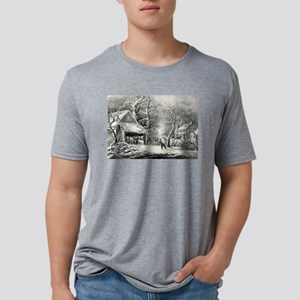 A snowy morning - 1864 Mens Tri-blend T-Shirt
