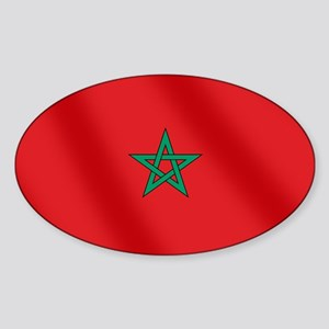Flag of Morocco Sticker (Oval)