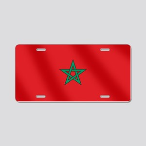 Flag of Morocco Aluminum License Plate