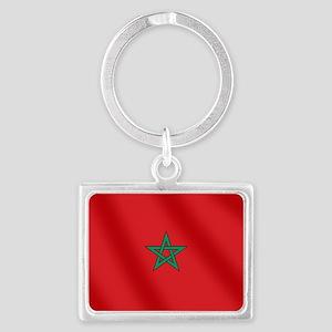 Flag of Morocco Landscape Keychain