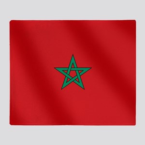 Flag of Morocco Throw Blanket