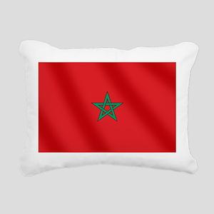 Flag of Morocco Rectangular Canvas Pillow