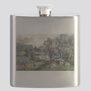 American homestead spring - 1869 Flask