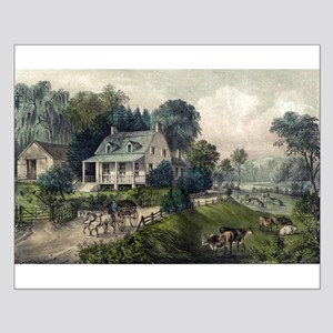 American homestead summer - 1868 Small Poster