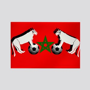 Moroccan Football Lions Rectangle Magnet
