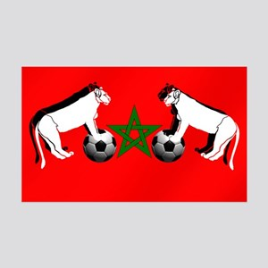 Moroccan Football Lions 35x21 Wall Decal