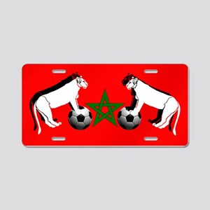 Moroccan Football Lions Aluminum License Plate