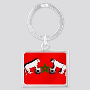 Moroccan Football Lions Landscape Keychain