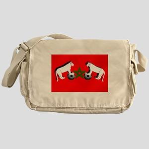 Moroccan Football Lions Messenger Bag