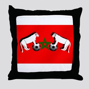 Moroccan Football Lions Throw Pillow