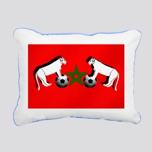 Moroccan Football Lions Rectangular Canvas Pillow