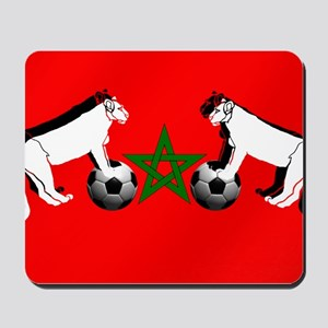 Moroccan Football Lions Mousepad