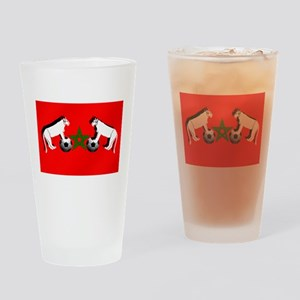 Moroccan Football Lions Drinking Glass