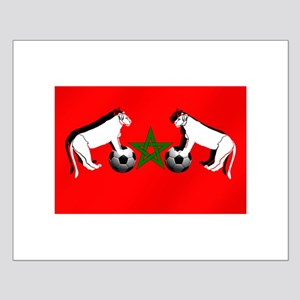 Moroccan Football Lions Small Poster