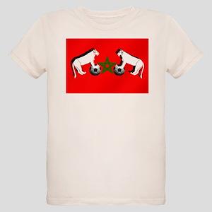 Moroccan Football Lions Organic Kids T-Shirt