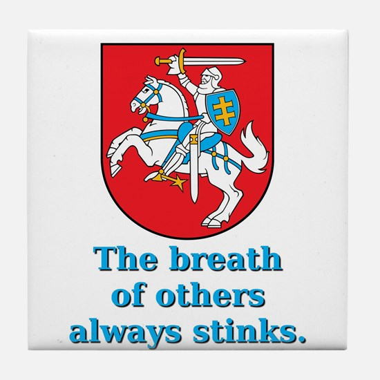 The Breath Of Others - Lithuanian Proverb Tile Coa