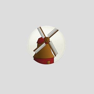 Dutch Windmill Mini Button