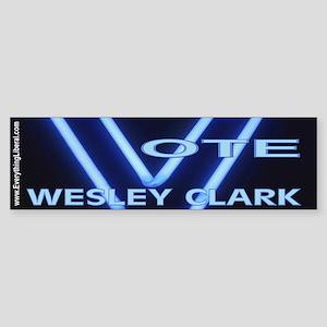 Wesley Clark Neon Vote Bumper Sticker