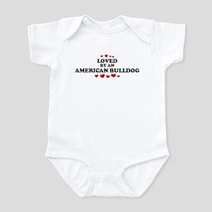 Loved: American Bulldog Infant Bodysuit