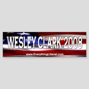 Wesley Clark Flag II Bumper Sticker