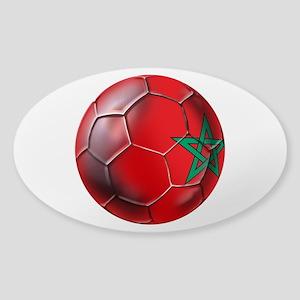 Moroccan Soccer Ball Sticker (Oval)