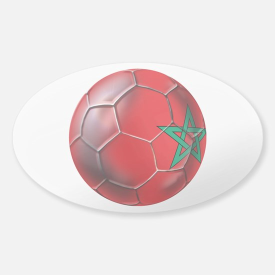 Moroccan Soccer Ball Sticker (Oval)