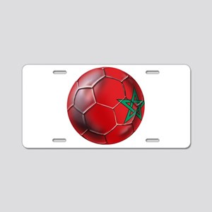 Moroccan Soccer Ball Aluminum License Plate