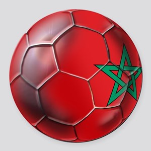 Moroccan Soccer Ball Round Car Magnet