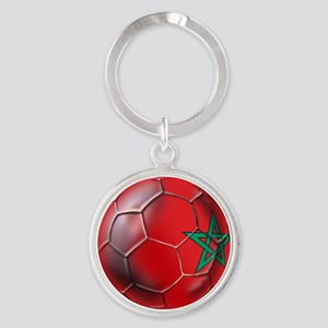 Moroccan Soccer Ball Round Keychain